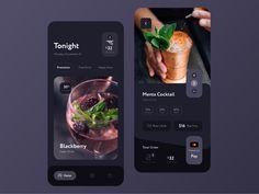Ui Design Inspiration ____________________________________________________ Drink Order App Concept by Ui Design Mobile, App Ui Design, Mobile Ui, Flat Design, Design Design, Webdesign Inspiration, App Design Inspiration, Daily Inspiration, Interface Web