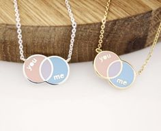 You and Me Lettering Necklace-From lettering necklaces to initial rings, style that's all yours and no one else's. Make your unique style and be more confident woman!