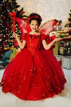 prinsessen jurk met cape rood