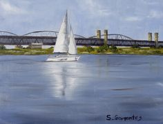 "ArtStation - ""Sailboat on a Wisła river"", Sebastian Garyantesiewicz"
