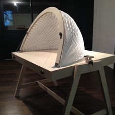 Origami Table - folding tyvek dome - Paris Design Week 2015 - Atelier Figura/Sfondo with Yuan Yuan, Atelier JMCA, Wakup, Michael Arrojo, Frédéric d'Incau Folding Architecture, Architecture Design, Dome Structure, Folding Structure, Industrial Design Sketch, Geodesic Dome, Origami Table, Dome House, Sculpture Art