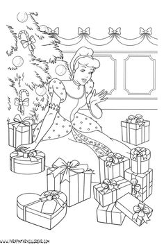 Coloring Pages Winter, Free Kids Coloring Pages, Adult Coloring Book Pages, Cartoon Coloring Pages, Colouring Pages, Printable Coloring Pages, Coloring Pages For Kids, Coloring Books, Cinderella Coloring Pages