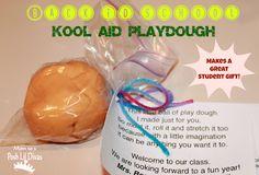 No Cook (Easy to Make) Kool-Aid Playdough - this smells so yummy! My preschoolers love it!
