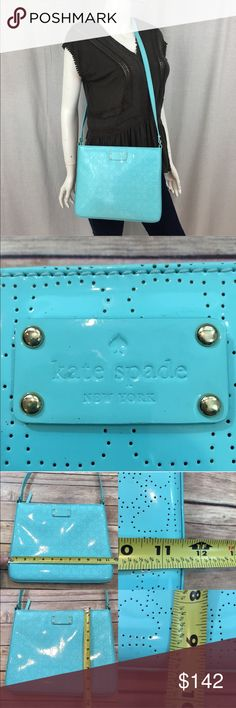 💋NWOT Kate Spade Darby Metro Perforated Crossbody Measurements are in photos. NWOT, has some light dots from storing in my closet, no other flaws. S2  I do not comment to my buyers after purchases, due to their privacy. If you would like any reassurance after your purchase that I did receive your order, please feel free to comment on the listing and I will promptly respond.   I ship everyday and I always package safely. Thank you for shopping my closet! kate spade Bags Crossbody Bags
