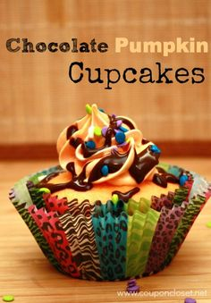 Chocolate Pumpkin Cupcakes – The perfect dessert for fall!