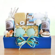 Ocean Spa for Her Womens Birthday Holiday or Mothers Day Gift Basket * Details can be found by clicking on the image.