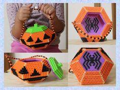 Halloween Trick or Treat bag perler beads by Tomo O.