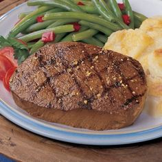 Whiskey Marinated Top Sirloins are a popular item on steakhouse menus around the country . and now you can enjoy this steak sensation right at home. A Omaha Steaks 6 oz. Top Sirloin Steak Recipe, Sirloin Steaks, Wine Recipes, Gourmet Recipes, Steak And Whiskey, Omaha Steaks, How To Cook Ham, Mouth Watering Food, Main Meals