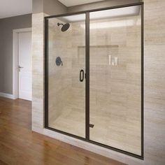 """Basco Infinity 76.13"""" x 59"""" Frameless Pivot Shower Door Trim Finish:"""