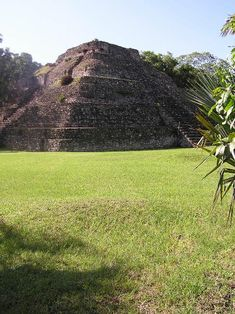 The Chacchoben Maya temple pyramid, built around 700 AD