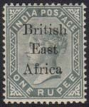BRITISH EAST AFRICA - 1895-96 1r slate of India ovptd, SG 59, very fine and…