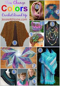 Crochet Slow Change Colors