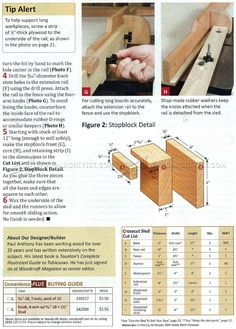 #1912 Table Saw Crosscut Sled Plans - Table Saw