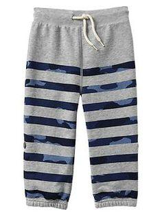 Camo stripe knit pants