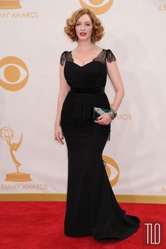 Gorgeous and she knows it! Emmys 2013 WERQ: Christina Hendricks in Christian Siriano | Tom & Lorenzo Fabulous & Opinionated