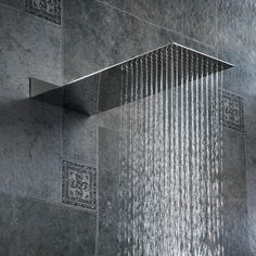 BAKALA Square Stainless Steel Showerhead Rainfall Shower Head Rain Shower Chrome high pressure chuveiro bath faucet Free freight-in Shower Heads from Home Improvement on AliExpress Led Solar, Solar Lamp, Walk In Shower Designs, Rainfall Shower, Bathroom Design Luxury, Shower Faucet, Rain Shower Bathroom, Baby Shower, Design Moderne
