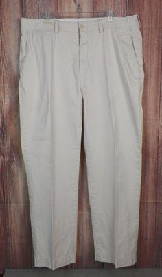 Ralph Lauren Polo GI Pants Mens 100% Cotton Khaki Casual Pants Size 38x32  #RalphLauren #CasualPants