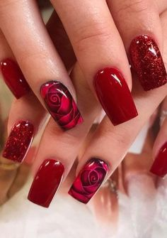 In this engaged present-day style world if you can't go with a creamy or perfect mix of concealing as you nail plan no one will consider your nail str. Cute Acrylic Nails, Cute Nails, Pretty Nails, Fabulous Nails, Gorgeous Nails, Ongles Forts, Valentine Nail Art, Nagel Gel, Flower Nails
