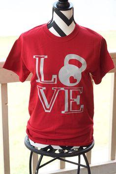 Kettle bell Love Short Sleeve Shirt. Kettlebell. Fitness Shirt. Workout Shirt.