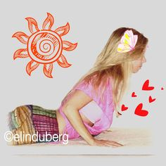 Paint me a shining sun, a butterfly and some love.  Bhujangasana.  Cobra pose. Heartlifter. Strong back. #yoga #asanas #cobrapose