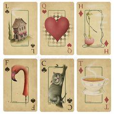 Download Vintage playing cards stock illustration. Illustration of smoke - 13996963