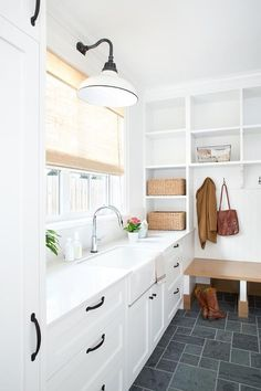 Mudroom and laundry room