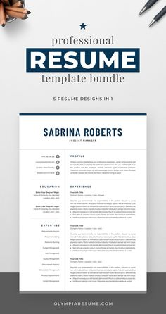 Professional resume template bundle with 5 designs that fit various needs: Clean and modern resumes with a neutral look, perfect for any occasion. Compact resume that you can fill with a lot of content. Resume with a monogram for added visual impact. Resume with a photo in case you need it. Build a resume that is informative, visually attractive, easy to navigate, and showcases your skills and experience in an elegant and effective way. Creative Cv Template, One Page Resume Template, Modern Resume Template, Cover Letter For Resume, Cover Letter Template, Resume References, Microsoft Word 2007, Planning Budget, Resume Tips