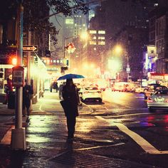 City light and rain.  Pictures like this make me want to cry.  Damn you NY for haunting me.  I guess I did love you.