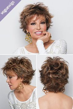 Voltage features short, barely waved all over layers. This stunning, no fuss sal Voltage features short, barely waved all over layers. This stunning, no fuss sal. Shaggy Short Hair, Short Shag Hairstyles, Short Layered Haircuts, Short Curly Hair, Short Hairstyles For Women, Curly Hair Styles, Short Hair Over 50, Layered Short Hair, Jane Fonda Hairstyles