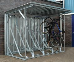 bicycle storage shed - For more great pics, follow www.bikeengines.com