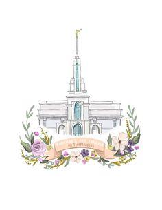 Mt Timpanogos Temple, LDS, Families are Forever, Mormon art, flower wreath… Lds Pictures, Temple Pictures, Wedding Pictures, Payson Temple, Temple Lds, Lds Art, Lds Temples, Utah Temples, Families Are Forever