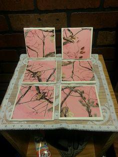 Realtree pink camo coasters