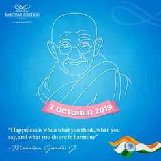 On this Gandhi Jayanti, may we all embrace the spirit of truth and non-violence in our life! Spirit Of Truth, May We All, Gandhi, What You Think, Our Life, Thinking Of You, Neon Signs, Sayings, Happy