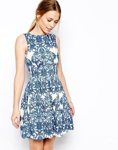 Closet Skater Dress in Baroque Print Another Valedictory?