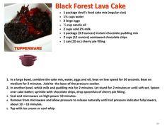Black Forest Lava Cake