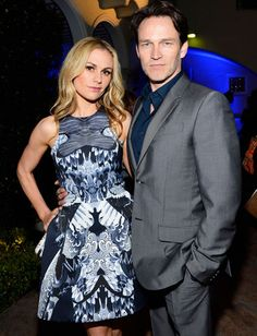 Oscars Parties 2013: Anna Paquin and Stephen Moyer attended the Great British Film Reception. #Oscars