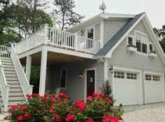 Detached garage with loft and bathroom. by Capewide Enterprises, LLC, Mashpee, MA
