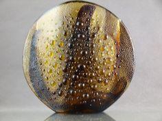 Jan Sylwester Drost lata 70-te wazon ASTEROID Jaba, Mid Century Design, Teak, Decorative Bowls, Art Deco, Polish, Vintage, 1970s, Glass Art