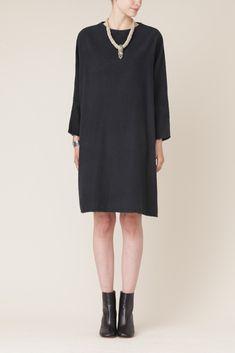 Black Crane Painter Dress (Black) / totokaelo