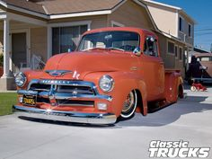 1954 Chevy 3100 Pickup Truck Front View.