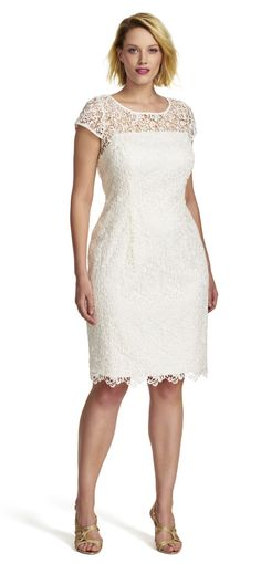Adrianna Papell | Lace Cap Sleeve Dress