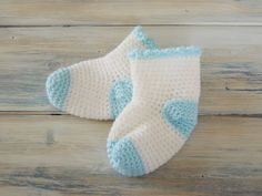 Happy Berry Crochet: How To Crochet Baby Socks