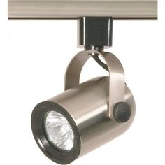Nuvo Th317 Brushed Nickel 1 Light Mr16 120v Track Head Round Back