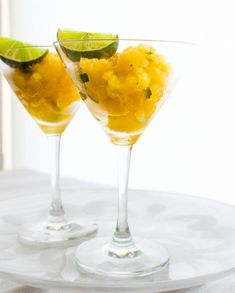 Mango, Mint and Lime Granita