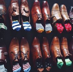 """""""I just got my July socks from Say it with a Sock, my sock subscription service. This month's socks were from Happy Socks. The styles are great and quality is top. Gentleman Mode, Gentleman Shoes, Gentleman Style, Sock Shoes, Men's Shoes, Shoe Boots, Shoes Men, Sharp Dressed Man, Well Dressed Men"""