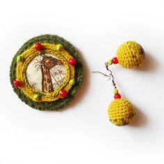 Żyrafa u fotografa - komplet biżuterii w SolmilarArt na DaWanda.com Crochet Earrings, Etsy, Jewelry, Bijoux, Jewlery, Jewerly, Schmuck, Jewels, Jewelery