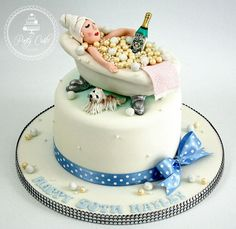 Bubble  bath cake. #bath #bubbles #shitzu #martini #rolltopbath #bling # #cake #birthday