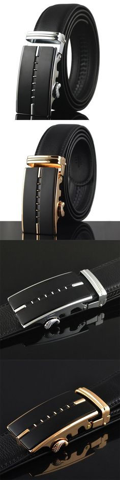 125-130CM Men Business Genuine Leather Belt / Second Layer Of Leather Automatic Buckle Belt