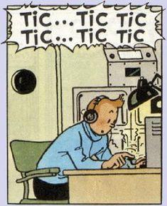 Tintin et les radios.