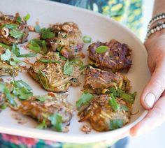 Annabel Langbein Spicy Kumara, Cashew and Coriander Fritters Recipe
